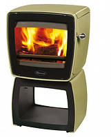 Чугунная печь Dovre Vintage  35 WB/E9 эмаль оливковый зеленый - 7 кВт, фото 1