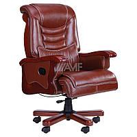 Кресло Монреаль, кожа коричневая (675-B+PVC), фото 1