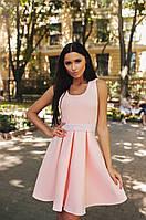 Шикарное персиковое платье с камнями на поясе. Арт-9953/79