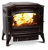 Чугунная мульти печь Dovre 750 GM/E6 коричневая майолика эмаль- 9 кВт