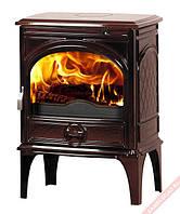 Чугунная мульти печь Dovre 425 GM/E6 коричневая майолика  эмаль- 8 кВт