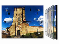 Часы стеклянные на стену Луцкий Замок