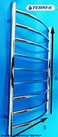 Водяной полотенцесушитель Tehni-x Трапик высота 100 см, межосевое расстояние 40
