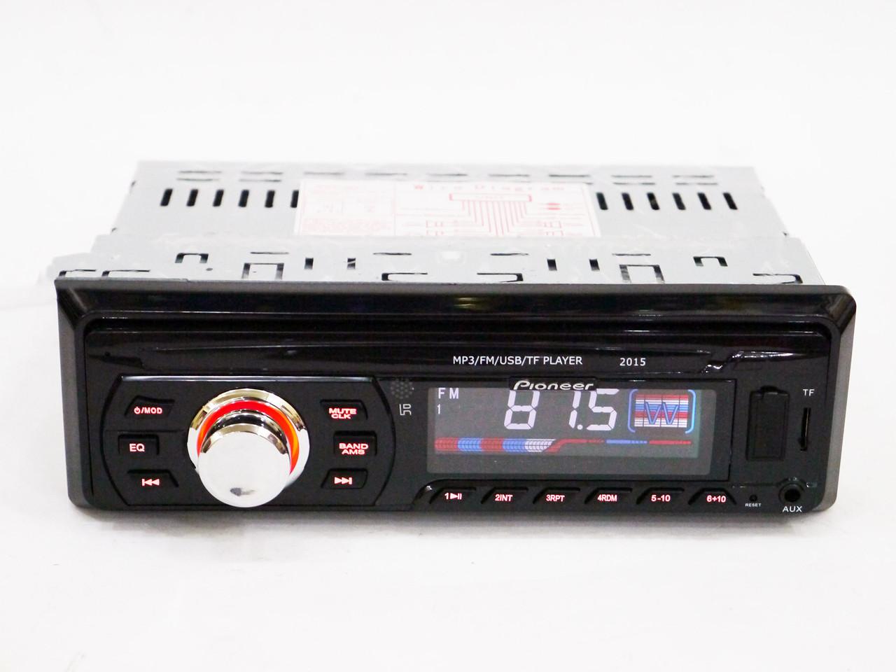 Автомагнитола Pioneer 2015 Usb+Sd+Fm+Aux+ пульт (4x50W)