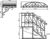 Кованые перила, лестницы, решетки в Одессе