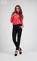 Модные черные брюки средней посадки, хорошего качества