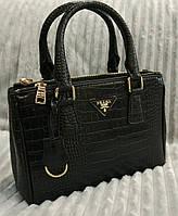 Деловая сумка Prada под змеиную кожу