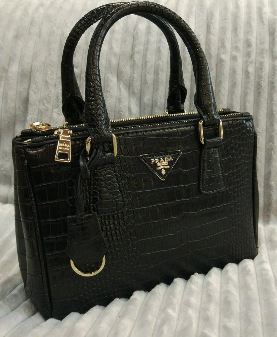 Стильная женская сумка Prada в черном цвете - eleganza.com.ua в Одессе c0487cf378e