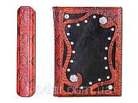 Ежедневник в кожаной обложке с ювелирными камнями. VIP подарок женщине., фото 1