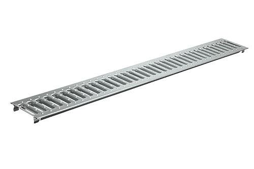 Решетка водоприемная штампованная из оцинкованной стали Basic PB-10.14.100-K