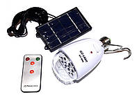 Лампа светодиодная GD-5005 5LED с солнечной панелью+пульт