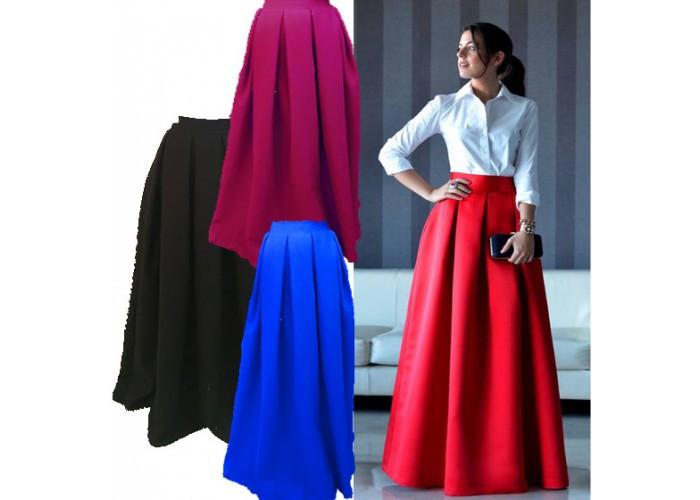 Модная женская юбка - макси новинка продаж