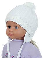 Детская теплая вязаная шапочка для девочек ACHTI Польша
