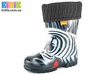 Резиновые сапоги DEMAR TWISTER LUX PRINT s Зебры