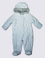 Теплый зимний комбинезон Marks&Spenser, 12-18мес, рост83. Невероятно красивый.