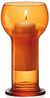 Подсвечник Bormioli Rocco серия Lucilla, цвет оранжевый (ø8,7 см, h16,5 см)
