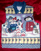 Жилетка женская новогодняя, жаккард, на 44 -48р-р 48