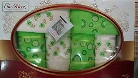 Набор махровых полотенец Gio Ricci 6шт зеленый 100% Хлопок Турция
