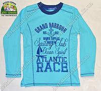 Лонгслив футболка с длинным рукавом для мальчика Atlantic Race, голубой