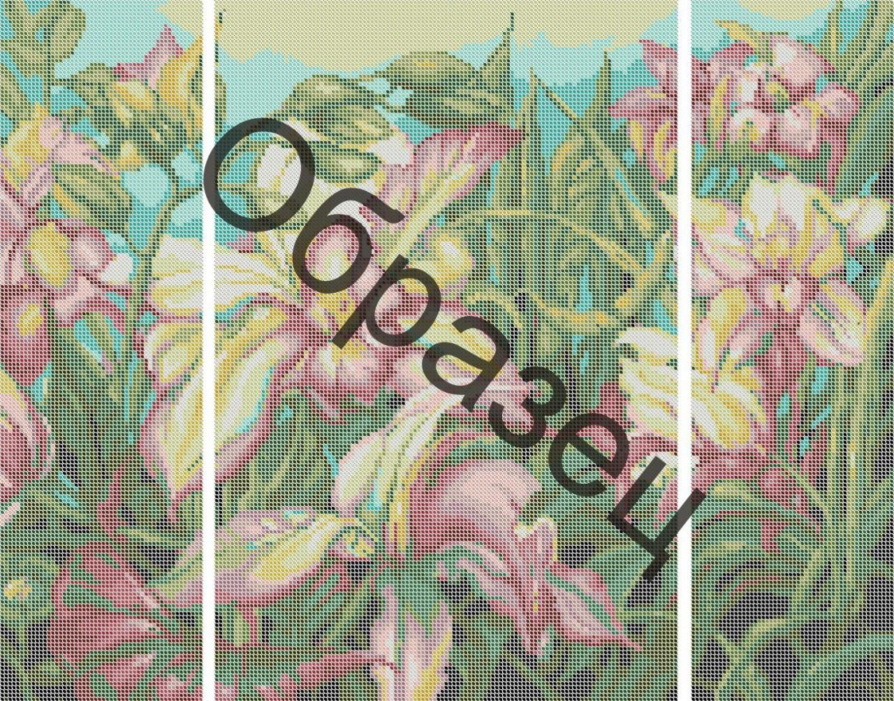 """Схема для вышивки бисером """"Триптих """"Орхидеи"""""""""""
