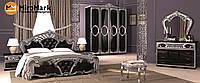 Спальня Реджина Black-Silver глянець чорний