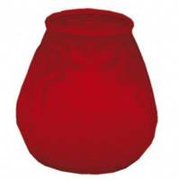 Свеча со стекляным подсвечником Garcia de Pou цвет красный (9,5х9,5 см)
