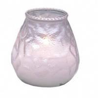 """Свеча со стекляным подсвечником """"анти-табак"""" Garcia de Pou цвет белый (9,5х9,5 см)"""