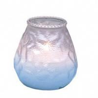 Свеча со стекляным подсвечником Garcia de Pou цвет перламутровый (9,5х9,5 см)