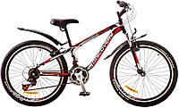 """Велосипед 24"""" Discovery FLINT AM 14G  Vbr  рама-13"""" St черно-бело-красный  с крылом Pl 2017"""