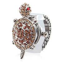 Женские кварцевые  часы-кольцо Черепашка