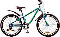 "Велосипед 24"" Discovery FLINT AM 14G  Vbr  рама-13"" St сине-зелено-белый (м)  с крылом Pl 2017"