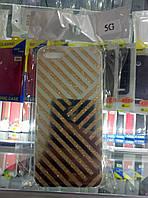 Чехол силикон Блестки Gold для Iphone 5/5S