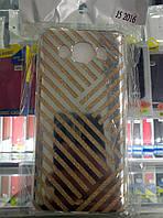 Чехол силикон Блестки Gold для Samsung J510 J5 (2016)