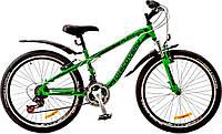 "Велосипед 24"" Discovery FLINT AM 14G  Vbr  рама-13"" St зелено-черный (м)  с крылом Pl 2017"