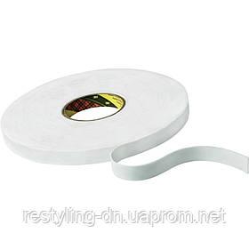 3M™ 9529W Двухсторонняя лента ( скотч ) на вспененной основе 9мм х 33м, толщ. 1,5мм