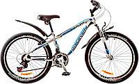 """Велосипед 24"""" Discovery FLINT AM 14G  Vbr  рама-13"""" St бело-сине-черный  с крылом Pl 2017"""