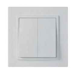 Выключатель двойной белый ElectroHouse ЕН-2102 Enzo