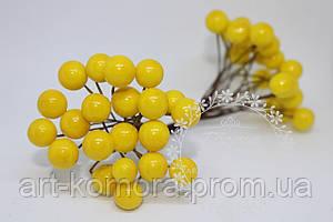 Калина глянцевая желтая. 20 ягод в наборе