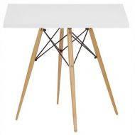 Стол обеденный Тауэр Вуд, деревянный, квадратный 80*80 см, цвет белый