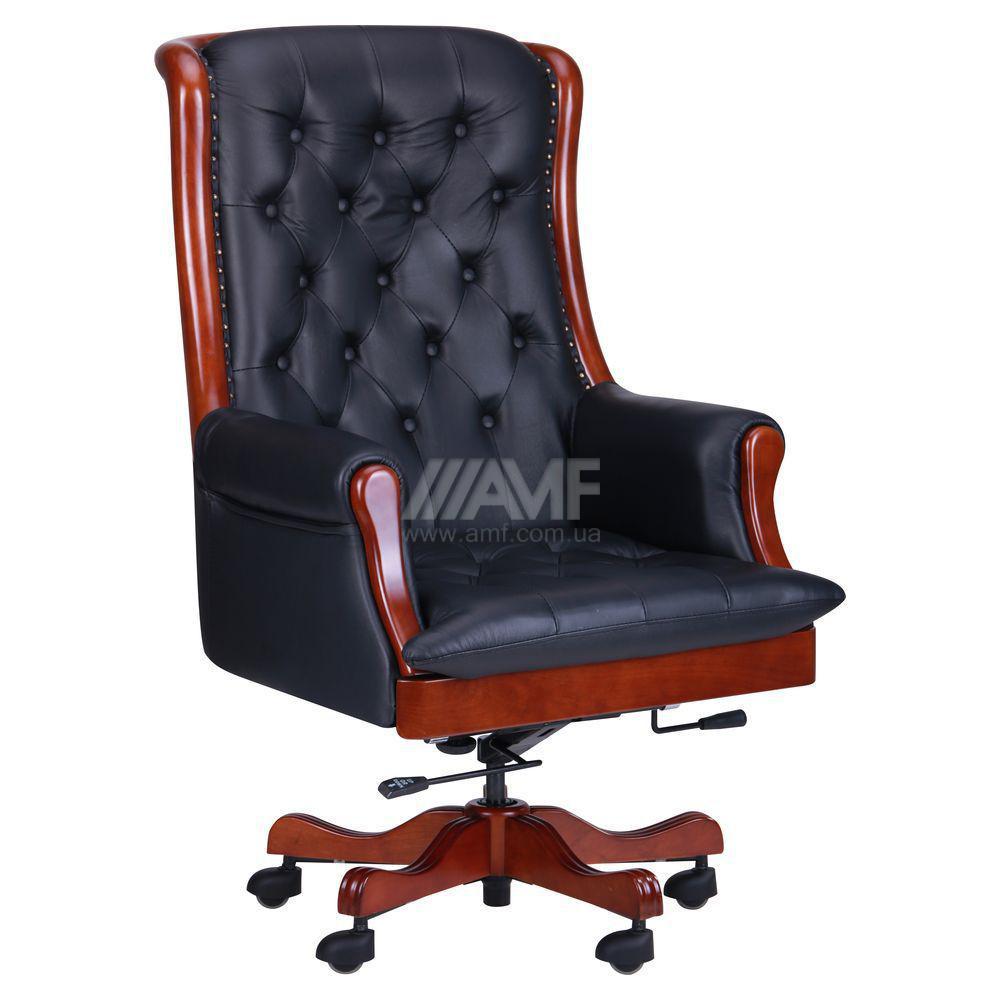 Бесплатная доставка.Кресло Линкольн, кожа черная (671-B+PVC)