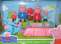 Машина и мотоцикл Семьи свинки Пеппы