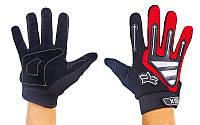 Мотоперчатки текстильные с закрытыми пальцами FOX BC-4640-R(L) (р-р L, черный-красный)