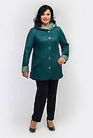 Куртка женская осенняя  П-45 темно-зеленая