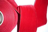 Бархатная лента красная 70мм ширина