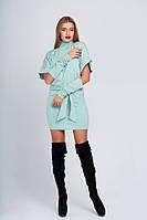 Платье теплое с рукавами Омега минт