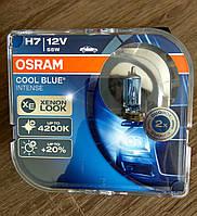 Лампа галогенная OSRAM COOL BLUE INTENSE Н7 12V 55W PX26D (бело-голубой свет)