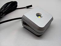 Клипса LED для стеклянной полки GIFF Mensa 1,4W белый холодный свет, металлик (БП SPS)