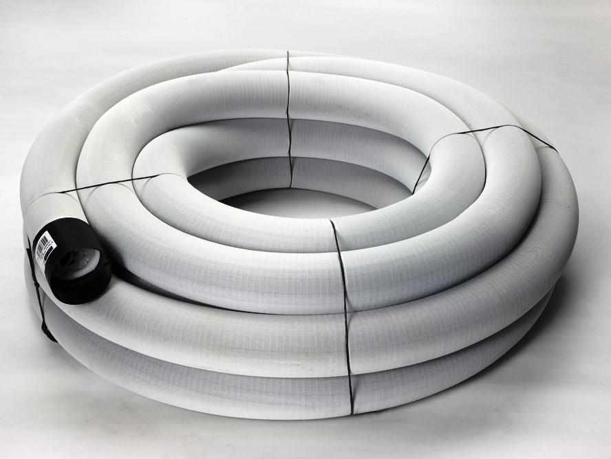 Труба дренажная гофрощелевая  с фильтром DN100 мм х 10 м