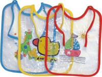 """Слюнявчики """"Завтрак-обед-ужин"""" клеенчатые (прозрачные) (упаковка 3шт) арт. 1064 -2 компл"""