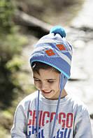 Детская теплая вязаная шапочка для мальчика ACHTI Польша